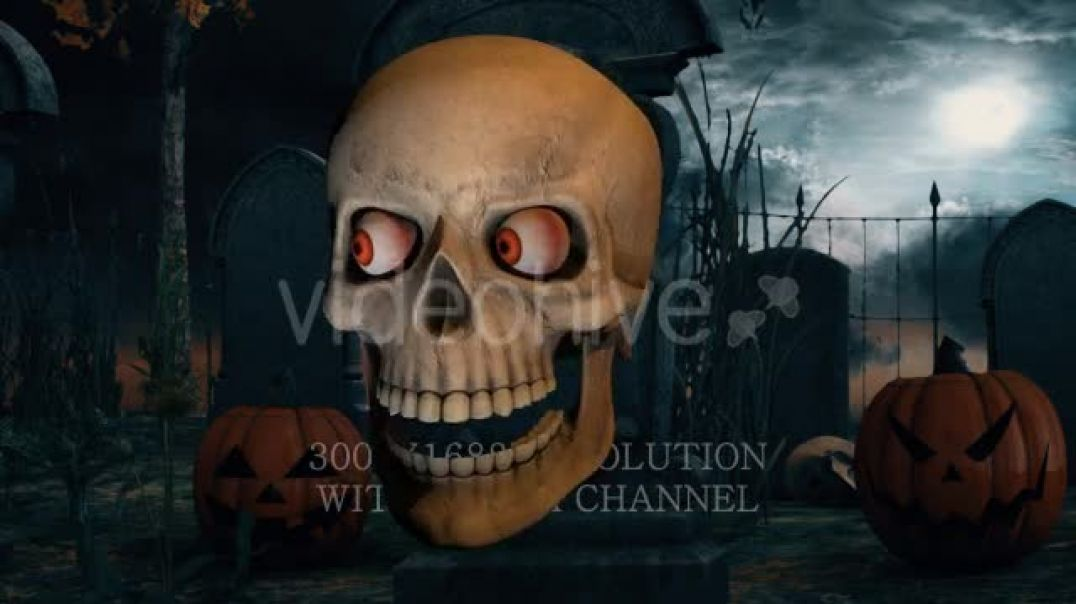Scary Skull Transition by thevisual on Envato Elements